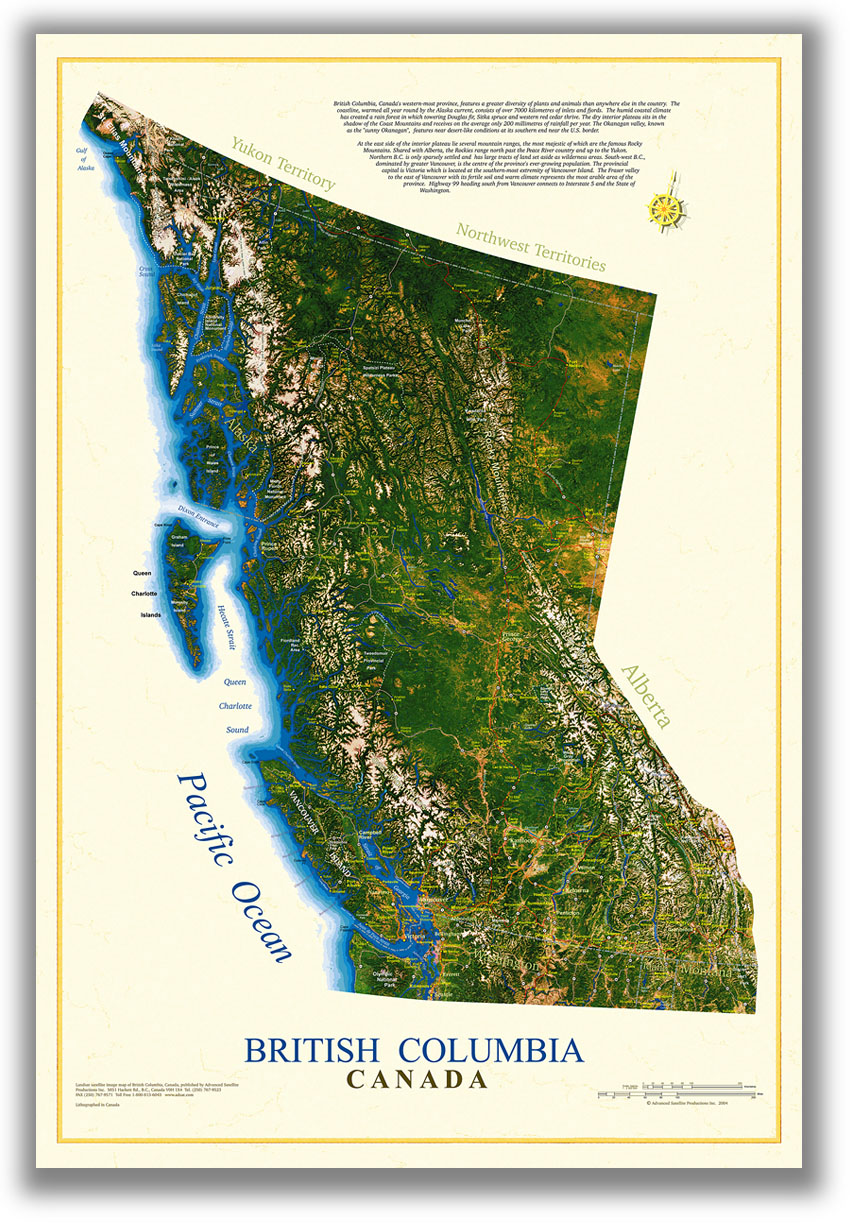 British Columbia Image Map - British columbia map