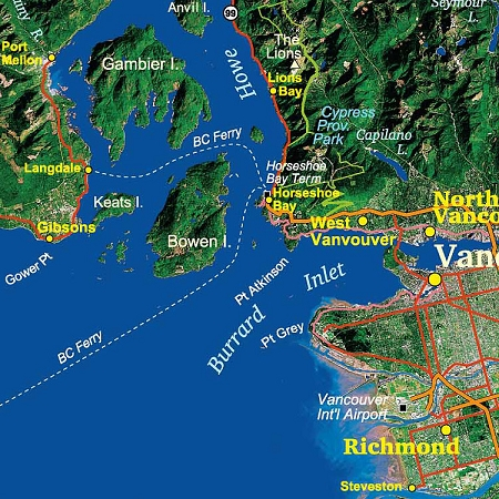 Vancouver Island Image Map on