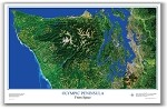 Olympic Peninsula Satellite Poster