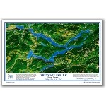 Shuswap Lake Place Map