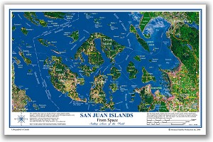 San Juan Islands Place Map