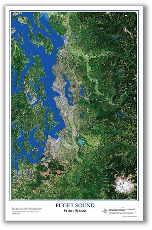 Puget Sound Satellite Poster