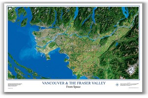 Vancouver & The Fraser Valley Satellite Poster